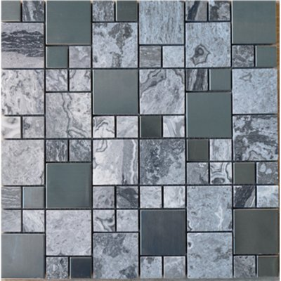 Multile Sample Square Random Sized Mixed Material Mosaic Tile In