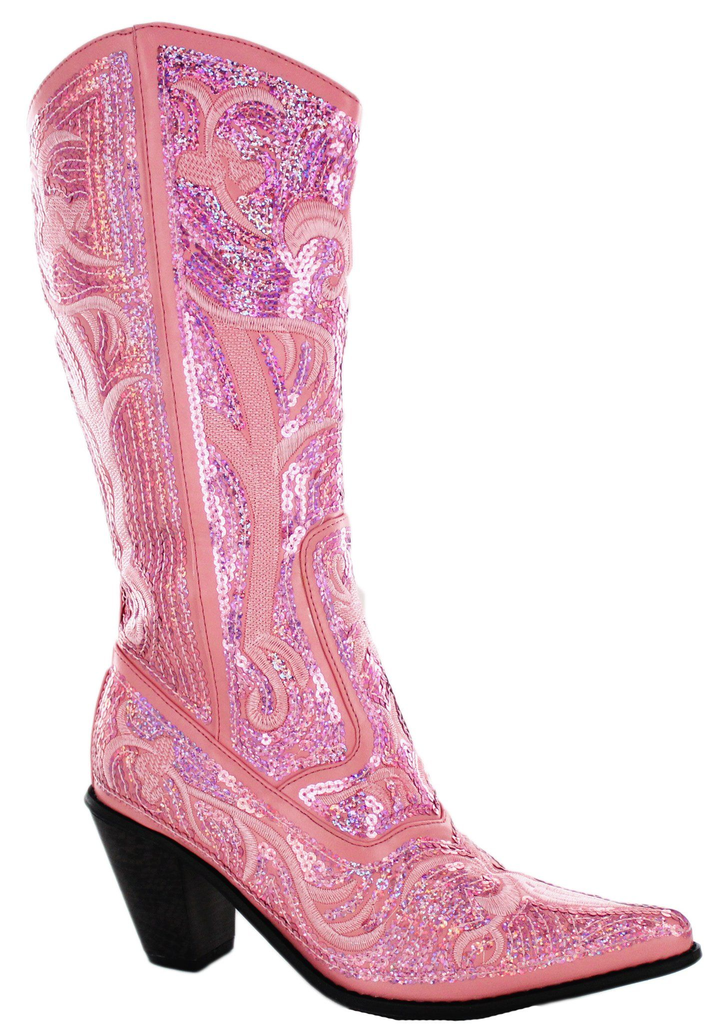 76dac655ad1 Helen s Heart Women s Sparkle Sequin Bling Full Tall Western Cowboy Boots  Assorted Colors
