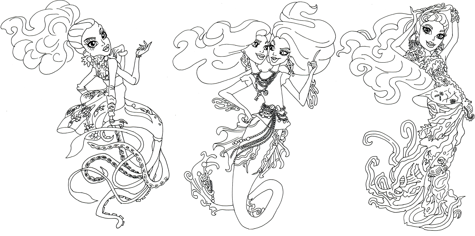 greatscarrierreefmonsterhighcoloringpagepng - Free Printable Coloring Pages Monster High