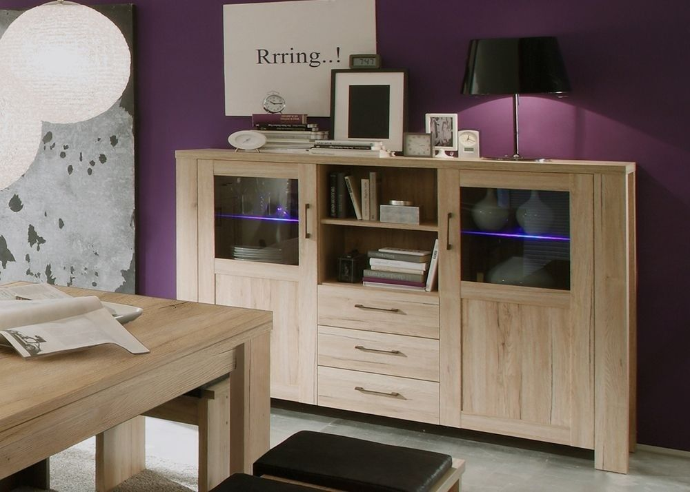 Highboard Lupo Anrichte Kommode Eiche Sanremo 7650 Buy now at
