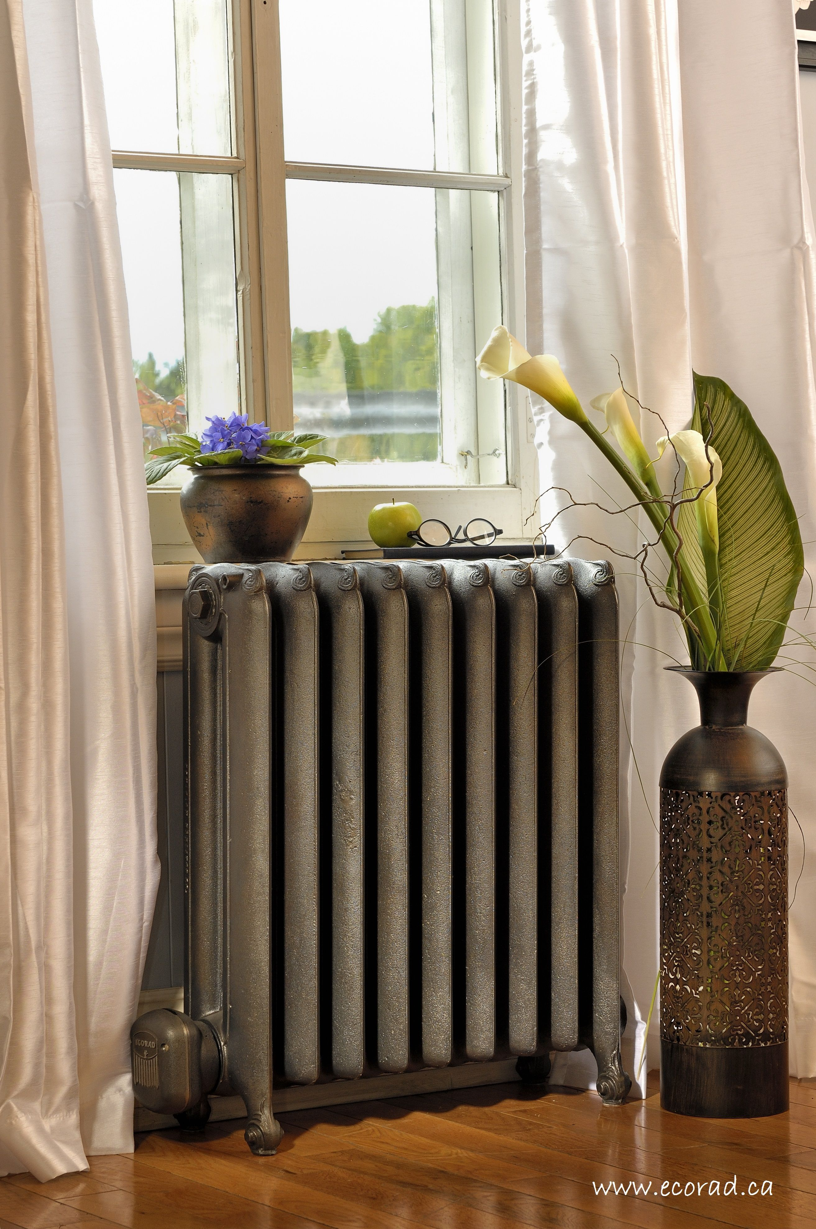 dominion model made by ecorad cast iron radiator radiateur. Black Bedroom Furniture Sets. Home Design Ideas