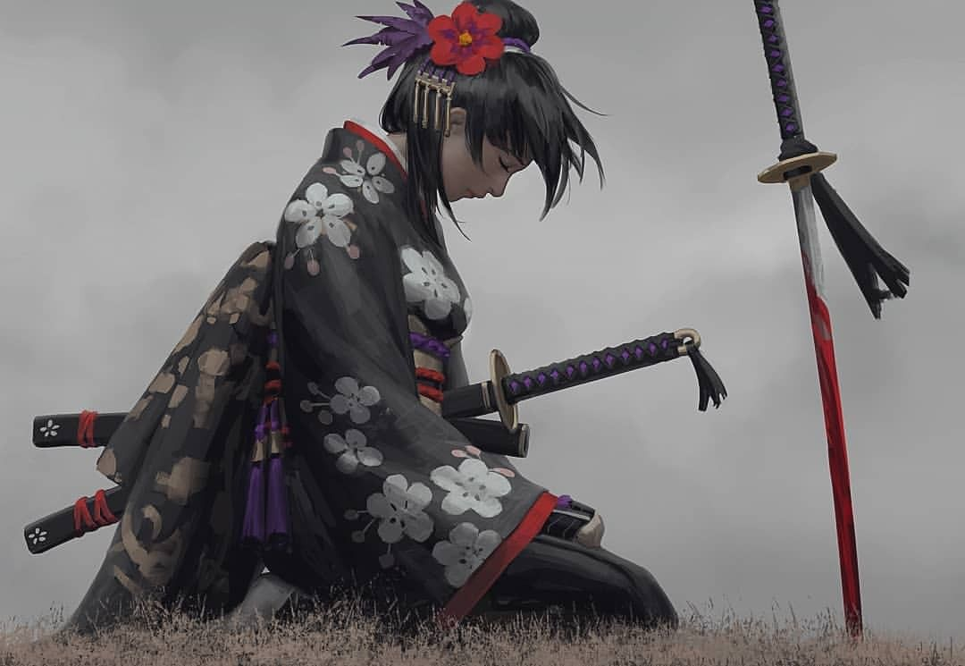 Японские аниме картинки самураев