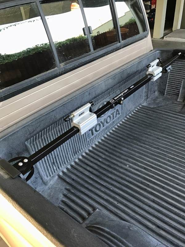 Turn Your Truck Bed Into A Bike Rack In Seconds With The Swagman Pick Up This 2 Fork Mount Snaps Place Without Tools And Has An Integrated