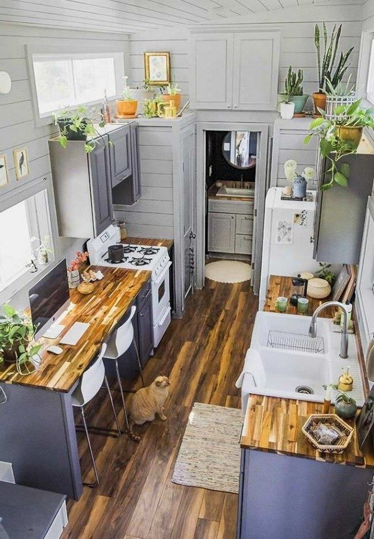 35 Exciting Tiny House Design Ideas To Inspire You Page 2 Of 35 Tiny House Kitchen House Design Kitchen Tiny House Design