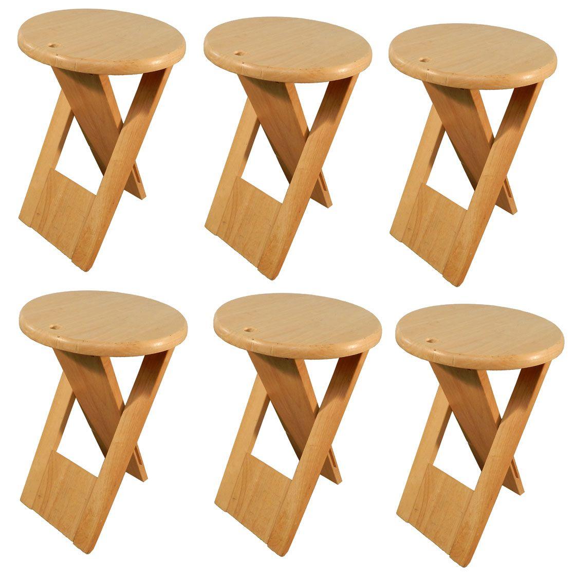 roger tallon sentou diteur vers 1980 suite 6 tabourets pliants en bois la maison bananas. Black Bedroom Furniture Sets. Home Design Ideas