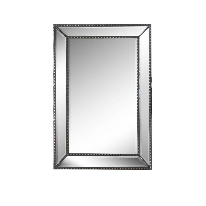 Silver Beaded Mirror