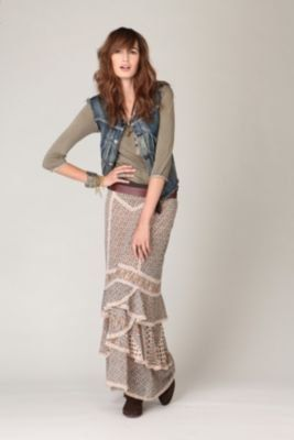 #Free People              #Skirt                    #Double #Print #Maxi #Skirt                         Double Print Maxi Skirt                             http://www.seapai.com/product.aspx?PID=1569364