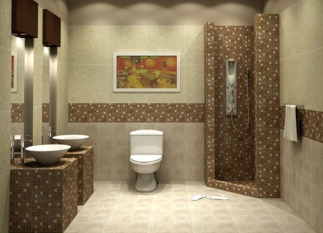Carrelage Salle De Bains 34 Idees Avec La Belle Mosaique
