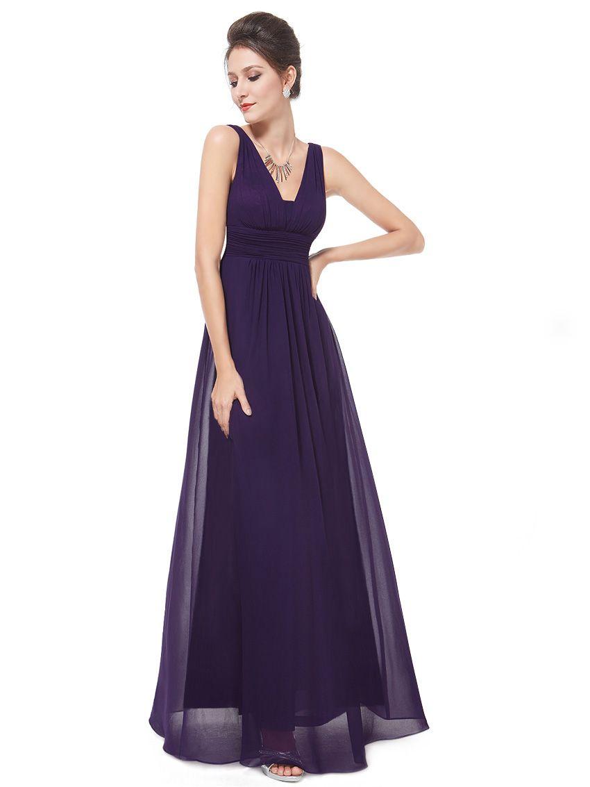 039cdc9bae409 Ever-Pretty Plus Long Sleeveless Bridesmaid Dresses V-Neck Wedding Gown  08110#Sleeveless#Bridesmaid#Pretty