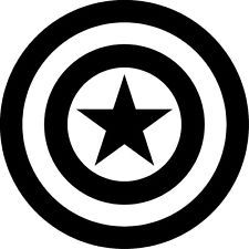 black captain america shield