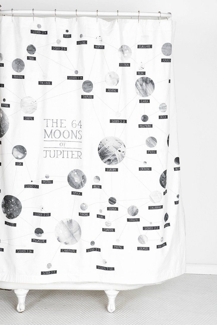 Amy Borrell The 64 Moons Of Jupiter Shower Curtain Nerdy But