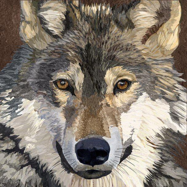 Savage Wolf Decoupage Napkin With Images Needlepoint