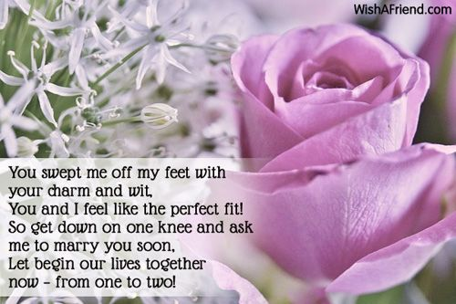 will you marry me poems for him