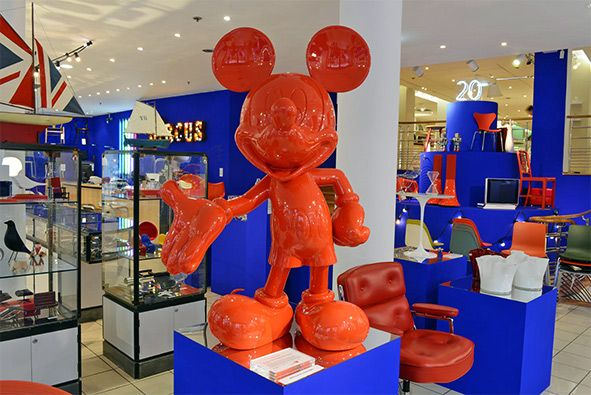 a red mickey mouse at the conran shop paris madmaus. Black Bedroom Furniture Sets. Home Design Ideas