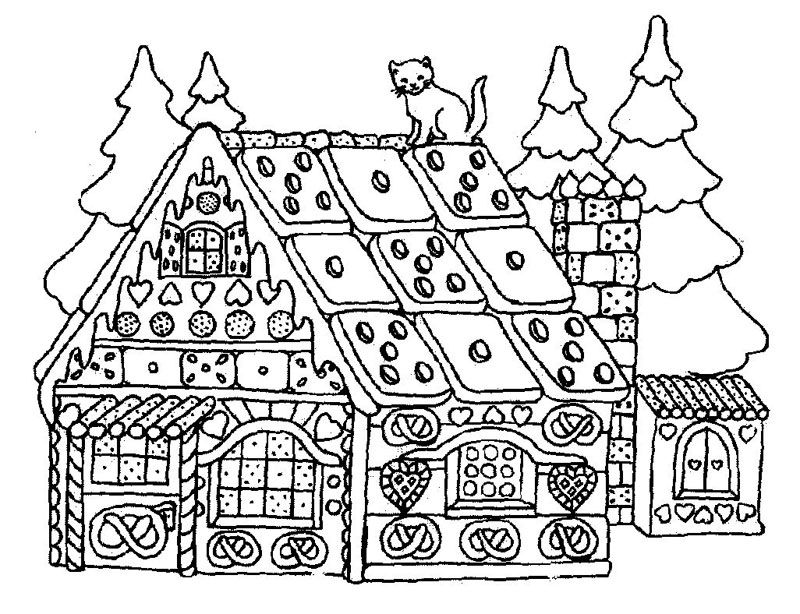 lebkuchenhaus1  merry christmas coloring pages christmas
