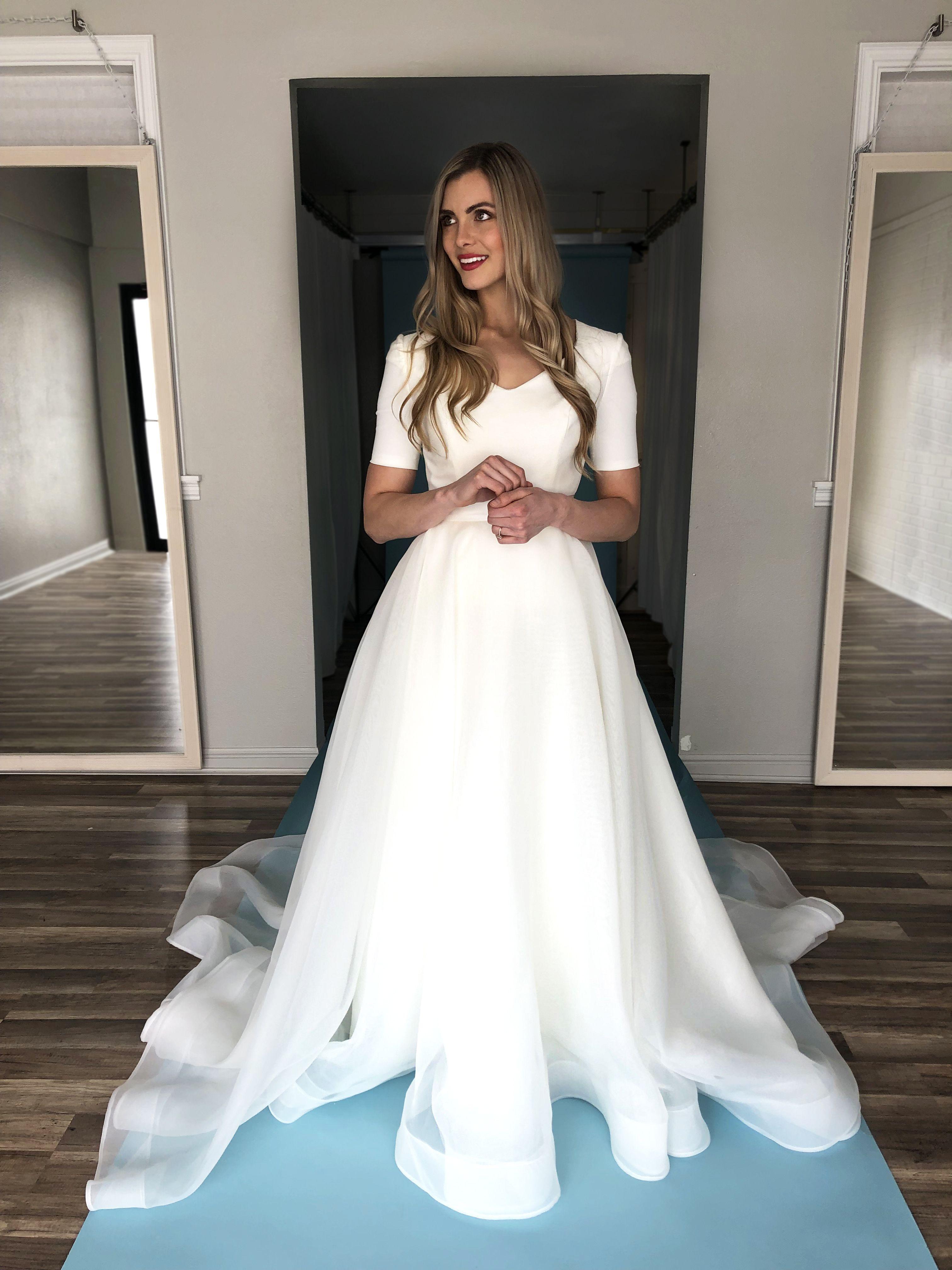 Margaret Gown By Elizabeth Cooper Design Modest Wedding Dress Modest Wed Modest Wedding Dresses With Sleeves Wedding Dress Trends Modest Wedding Dresses