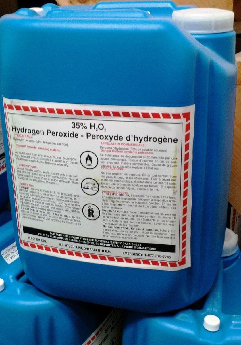 Industrial Grade Hydrogen Peroxide 35 Is Sometimes Used