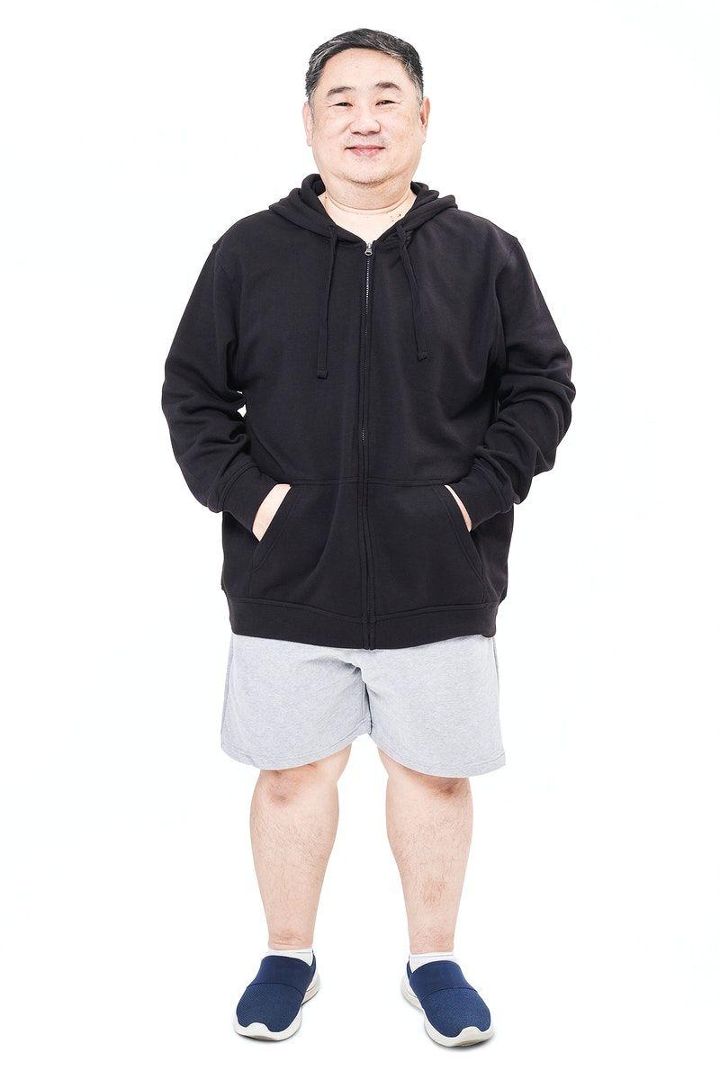 Download Download Premium Image Of Men S Black Hoodie Mockup Fashion Shoot In Black Hoodie Men Hoodie Mockup Black Hoodie