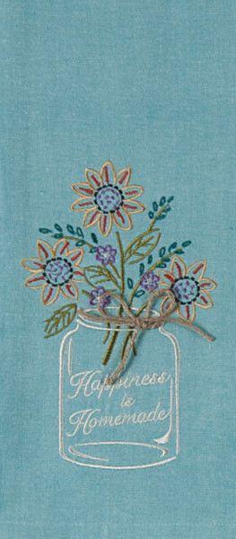 Tea Towel - Mason Jar Happiness is Homemade