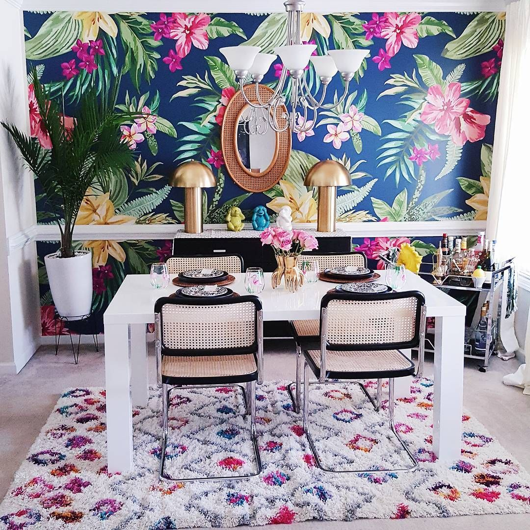Tropic, Colorful Jungle. Awesome Living Room By @Carla