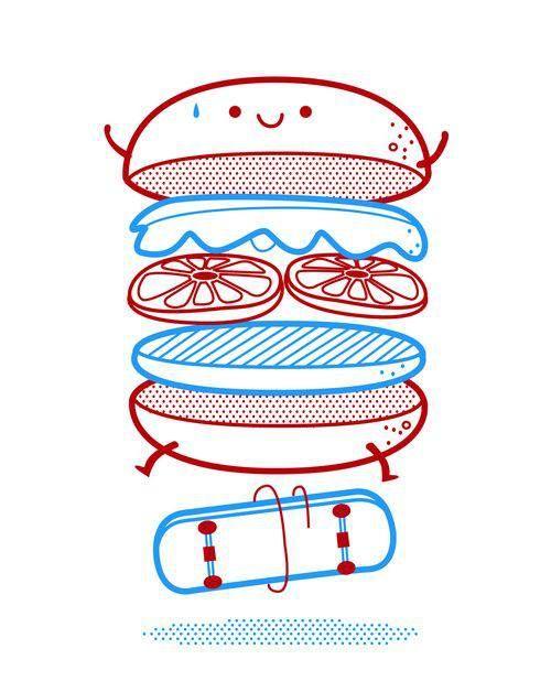 Cool burger.
