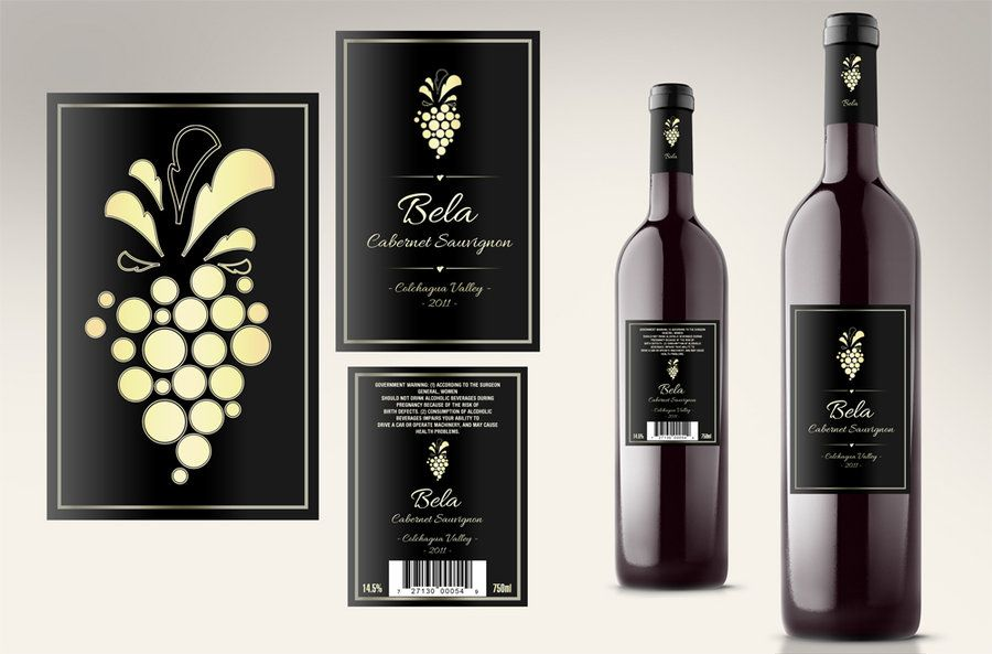 Wine Labels  Line Art  Graphic Design    Wine Design