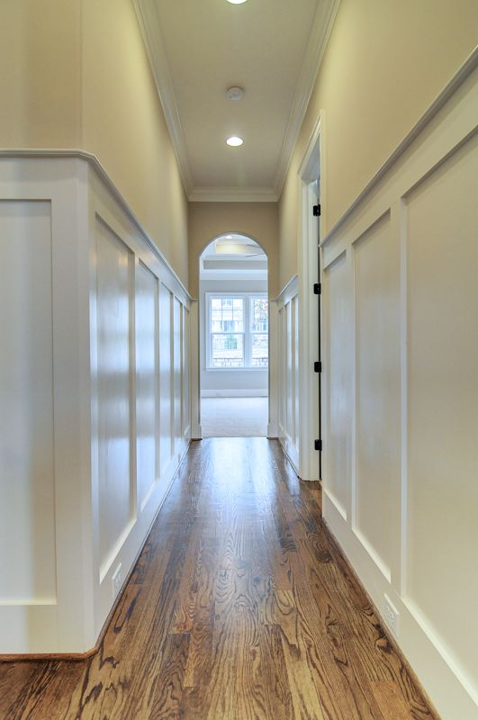 Master Hall Judges Paneling Arched Door Opening