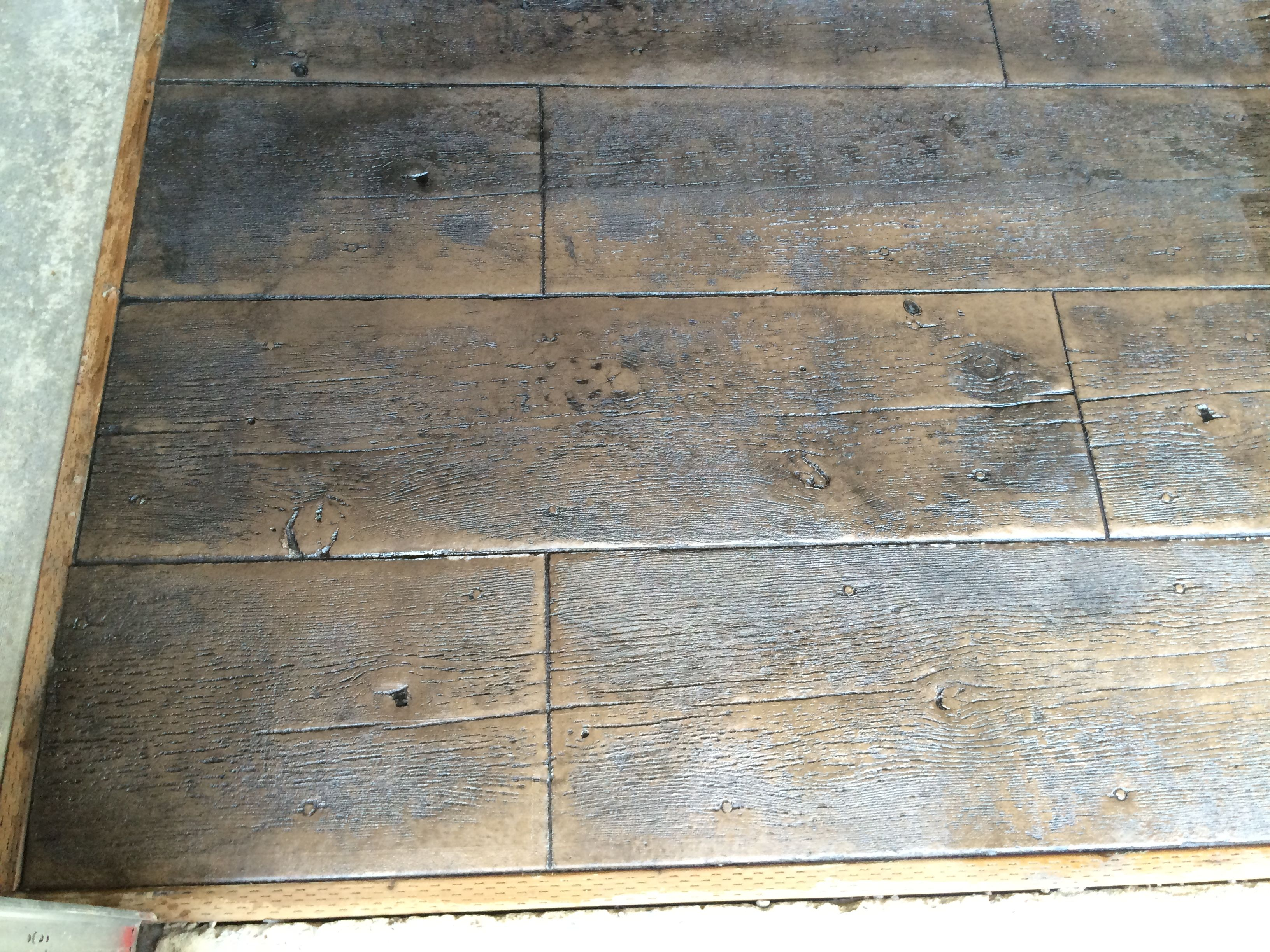 Stamped Concrete That Looks Like Wood Planks : Stamped concrete floors that look like wood gurus floor