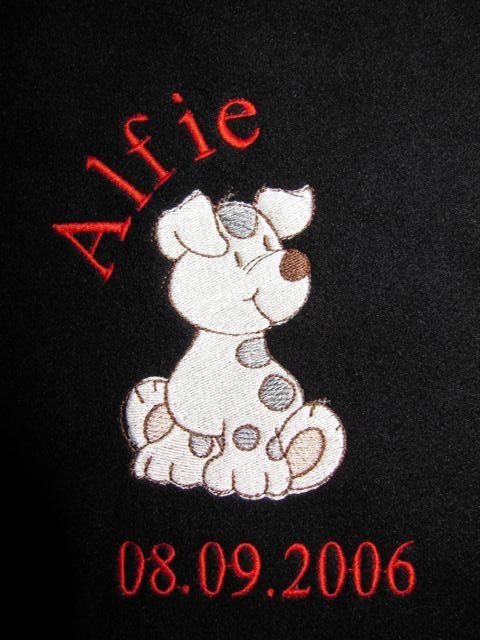 Alfie puppy dog personalised baby blanket new by cheekybabiesemb items similar to alfie puppy dog personalised baby blanket new baby gifts for girls and boys embroidered fleece blankets pet blankets cats and dogs on negle Image collections