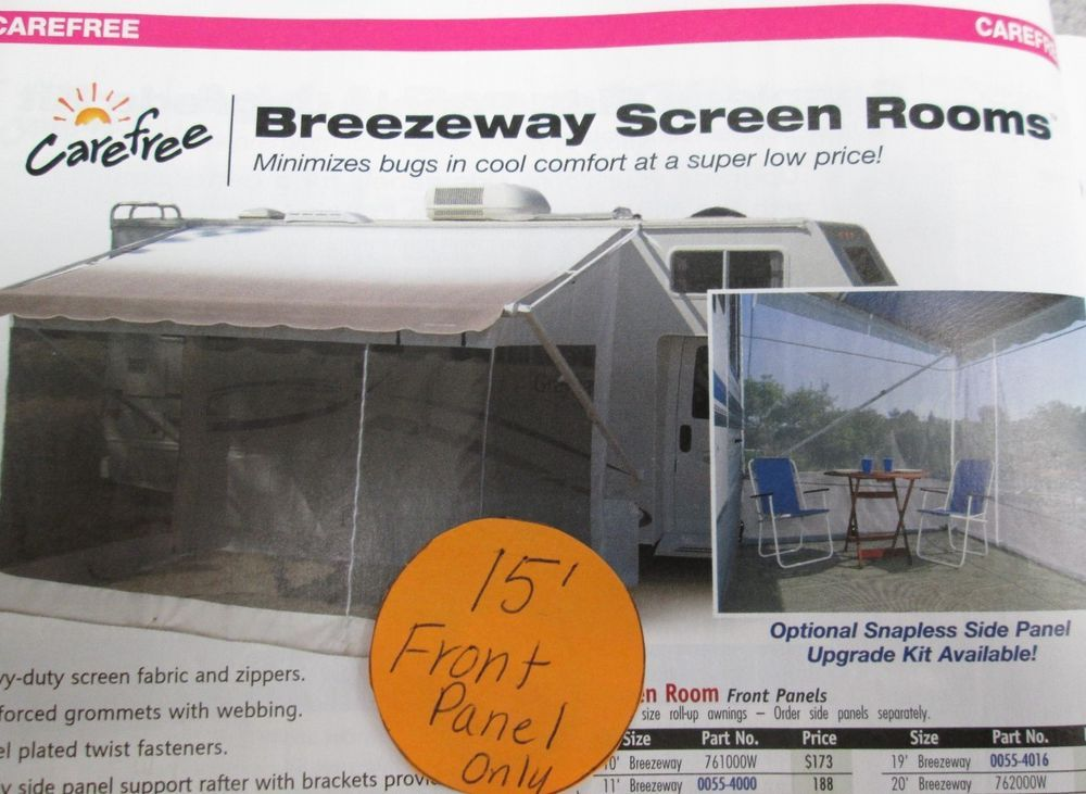 15 Rv Awning Breezeway Screen Room Front Panel For Rv Awning Repair In Ebay Motors Parts Accessories Rv Trailer Camper Parts Breezeway Paneling Awning
