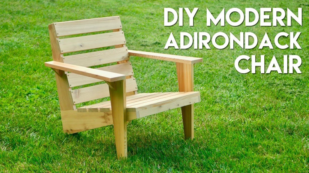 Modern Adirondack Chair With Images Chair Woodworking Plans
