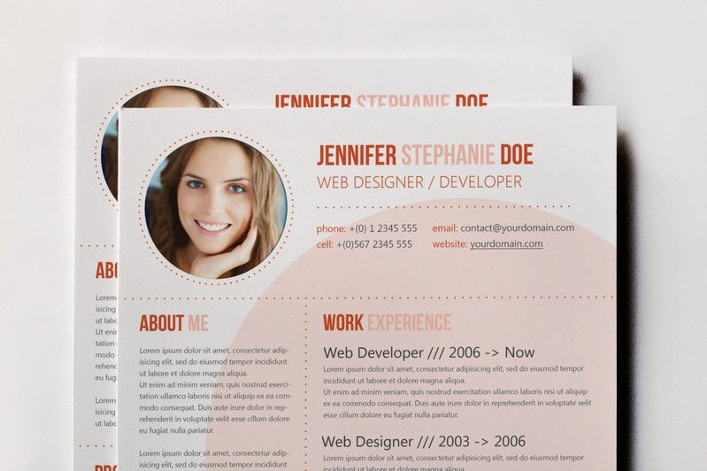 CV Template / 3 Colors by Visual Impact on Creative Market Ideas