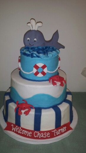 Whale Baby Shower Cake Here Trin I Found The Baby Shower Cake