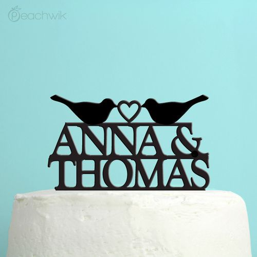 Last Name Wedding Themes: Personalized Last Name Wedding Cake Topper By Peachwik