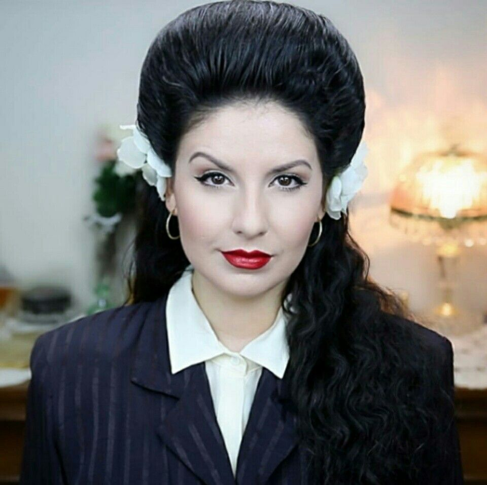 how to style rockabilly hair nena moreno pachuca hairstyle makeup 1940 hair 4782