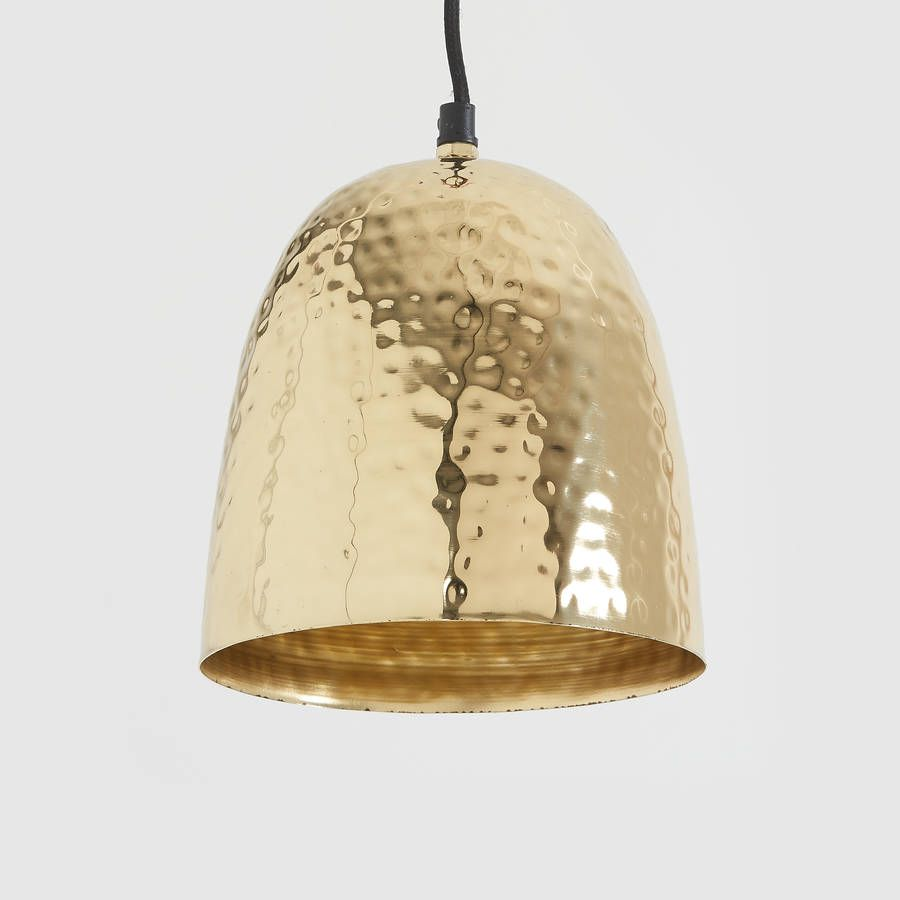 Hammered Brass Pendant Light