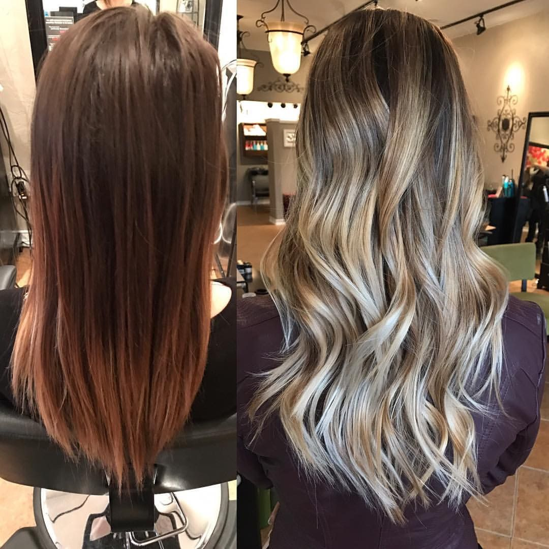 From Dark Brown To Beautiful Blonde Balayage Balayage Hair Hair Brown Blonde Hair