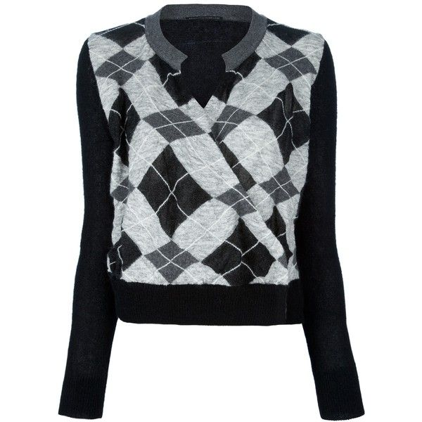 ERMANNO SCERVINO argyle sweater ($535) ❤ liked on Polyvore