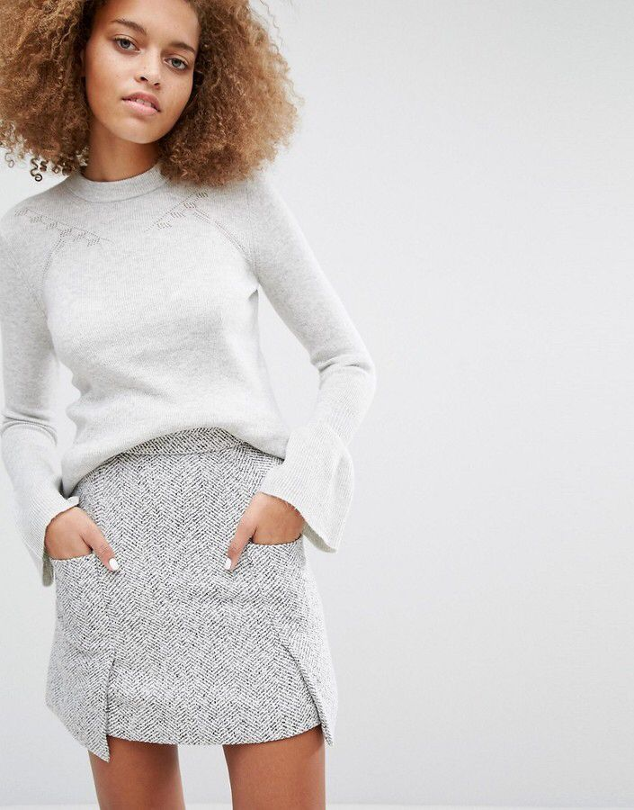 Warehouse Flare Cuff Sweater