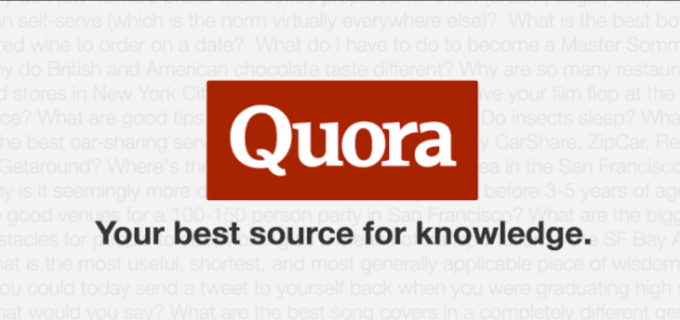 do answer in quora backlinks for your website