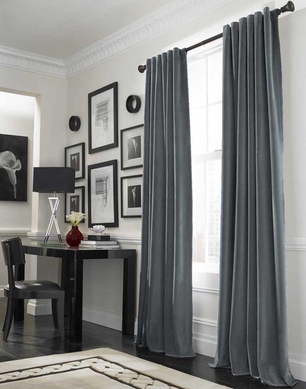 Desk under window ideas  interior designs stunning curtain ideas for large window design