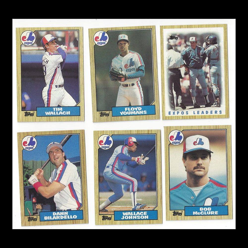 Montreal Expos 1987 Topps baseball cards. For sale at Tennessee Antique Shack. Pack of 6 cards. $3.00
