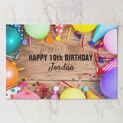 Explore Kids Birthday Gifts 10th And More Happy Party Balloons