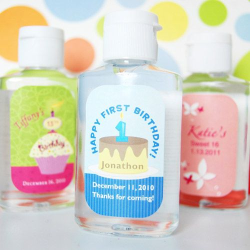 Personalized Birthday Hand Sanitizer Hand Sanitizer Birthday