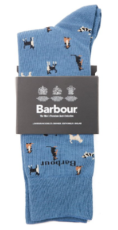 barbour men dog socks