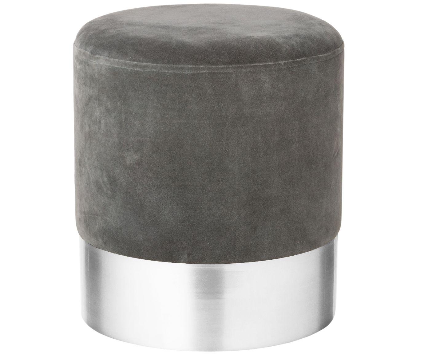 Samt Hocker Harlow In Grau Silber Westwingnow Hocker Sitzhocker Wolle Kaufen