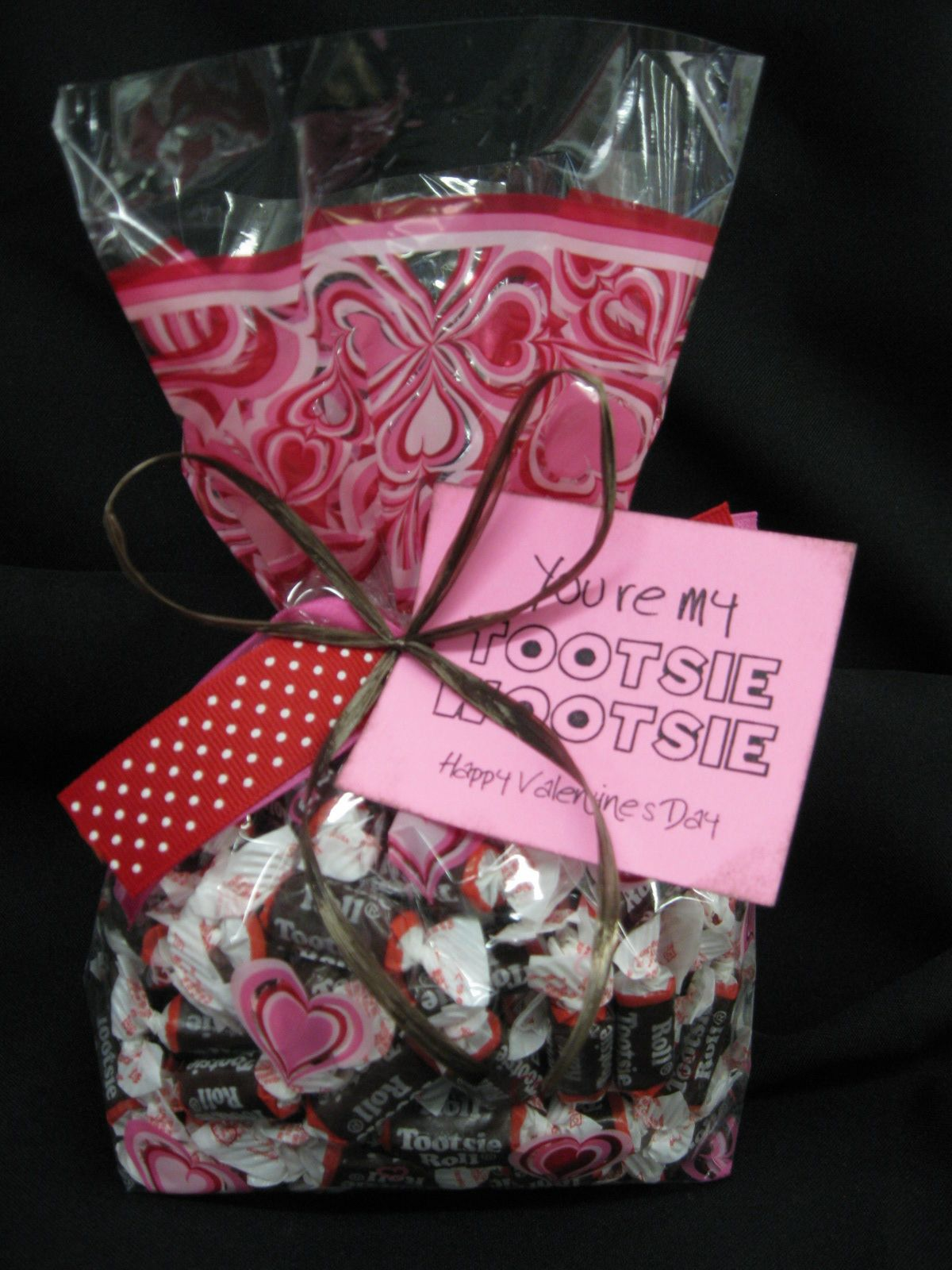 A Love Inspired Giftcello Filled With Mini Chocolate Tootsie Rolls