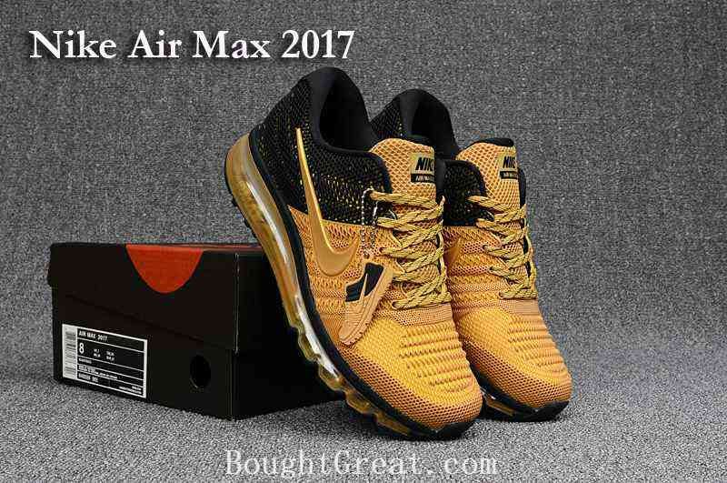 mens nike air max 2017 black gold