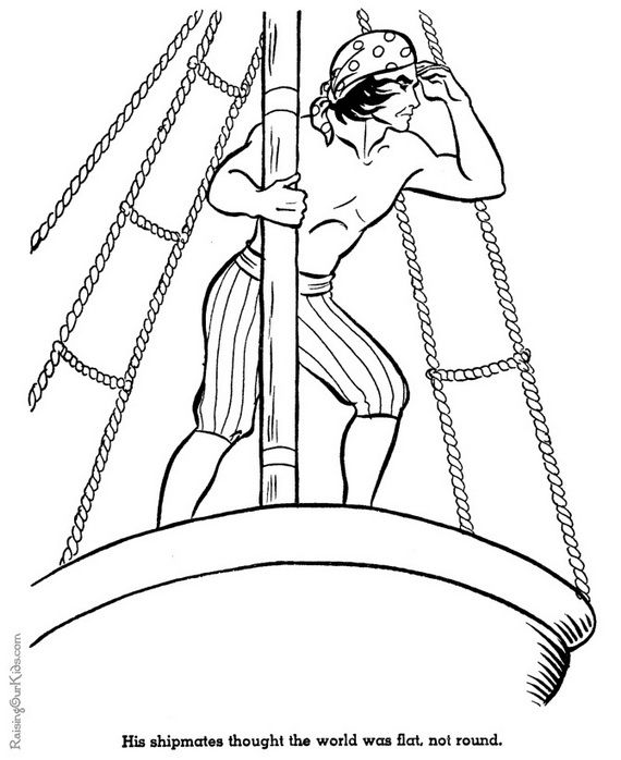 Columbus Day Coloring Pages For Kids Coloring Pages Coloring