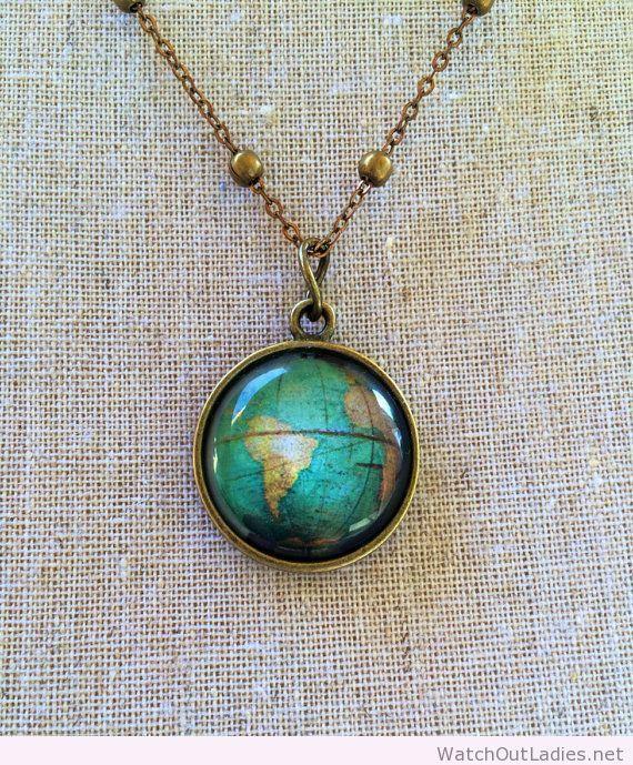 Globe pendant necklace my style pinterest globe pendant globe globe pendant necklace gumiabroncs Choice Image